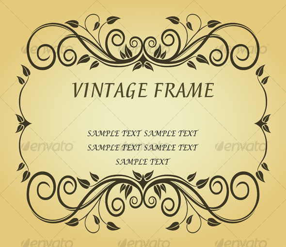 GraphicRiver Vintage frame in victorian style 89830