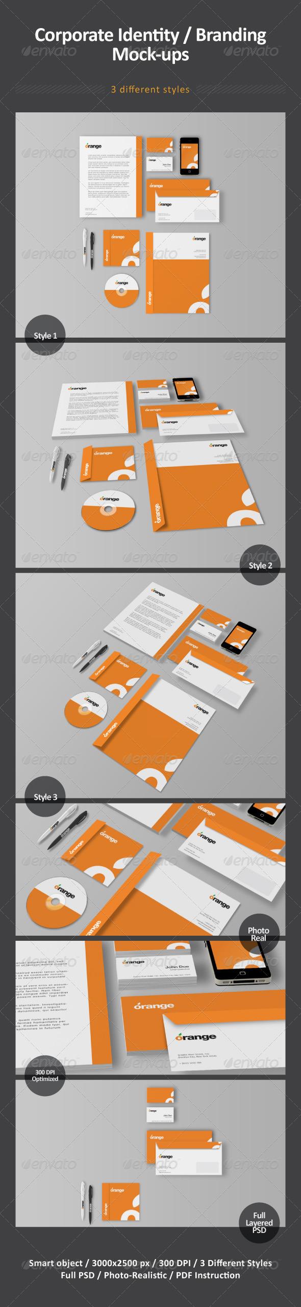 GraphicRiver Corporate Identity Branding Mock-ups 2453625