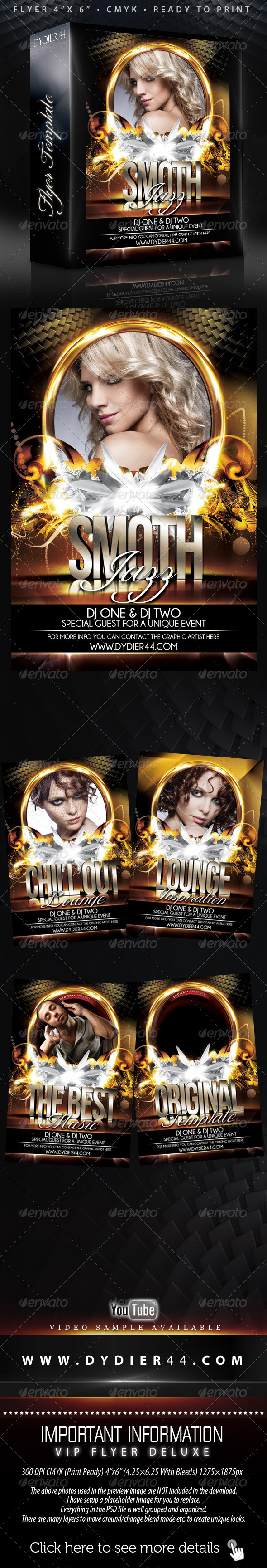 Night Club II (Flyer Template 4x6)  - Clubs &amp; Parties Events