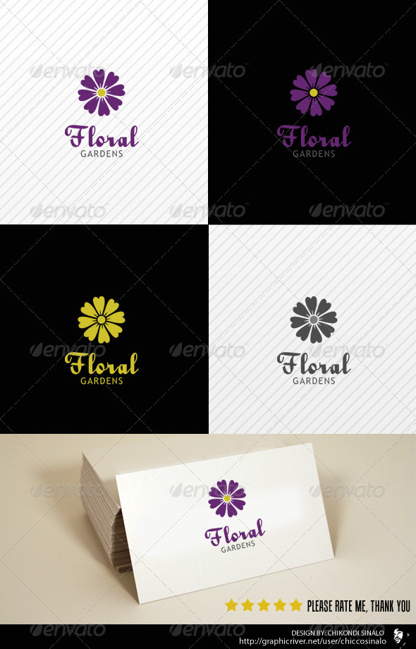 Floral Garden Logo Template - Nature Logo Templates