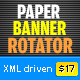 Paper Banner Rotator XML (4 transitions) - ActiveDen Item for Sale