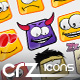 10 Glossy Emoticons : Icon Pack - GraphicRiver Item for Sale