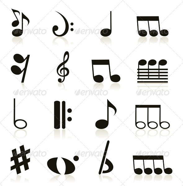Musical icons8 - Miscellaneous Vectors