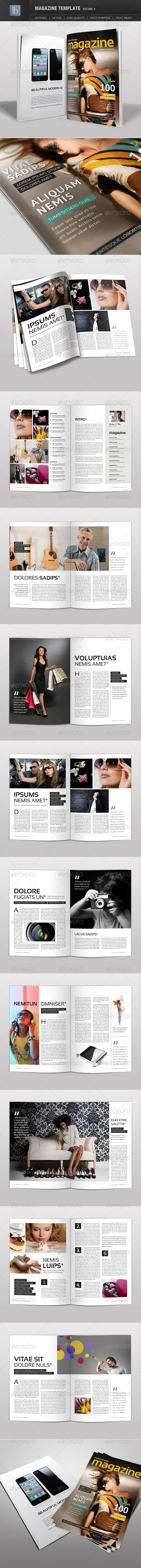 Magazine Template | Volume 3 - Magazines Print Templates