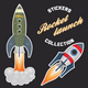 Rocket launch (stickers collection) - GraphicRiver Item for Sale