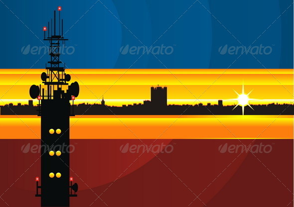 Cityscape Background - Backgrounds Decorative