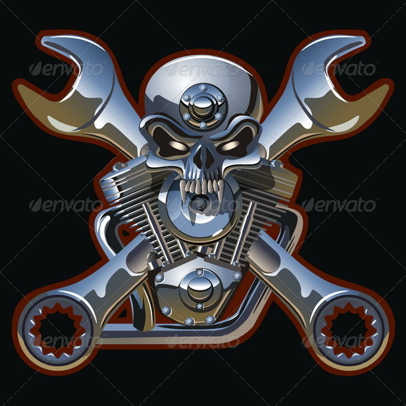 Iron Jolly Roger Skull - Miscellaneous Conceptual
