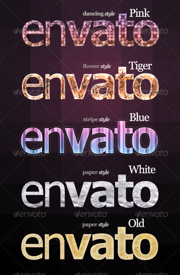 GraphicRiver 5 Special Text & Effects styles 90101