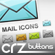 5 Coloured Mail Icons : Icon Pack - GraphicRiver Item for Sale