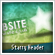 Starry Website Header - GraphicRiver Item for Sale