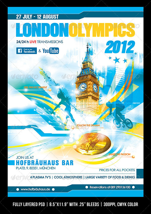 GraphicRiver London 2012 Olympics Poster Flyer 2433909