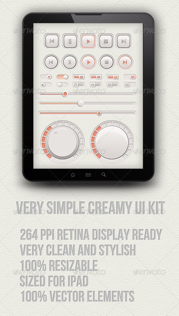 Creamy Audio Ui Kit - User Interfaces Web Elements