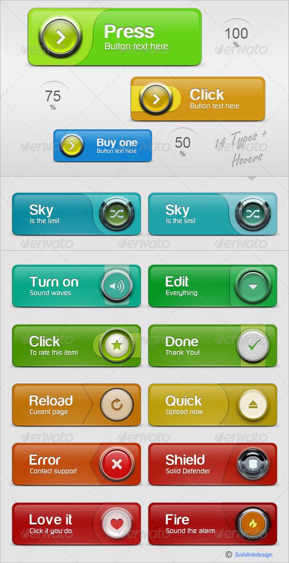Ultra Web Buttons - GraphicRiver Item for Sale