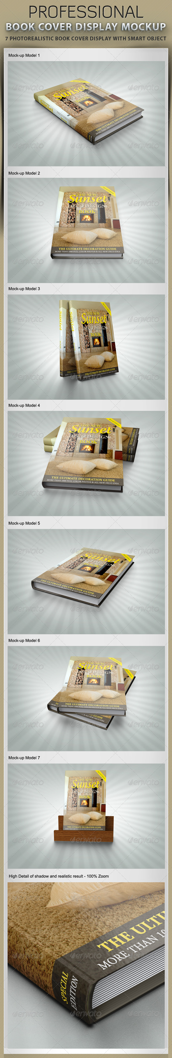 GraphicRiver Book Cover Display Mockup 2461057