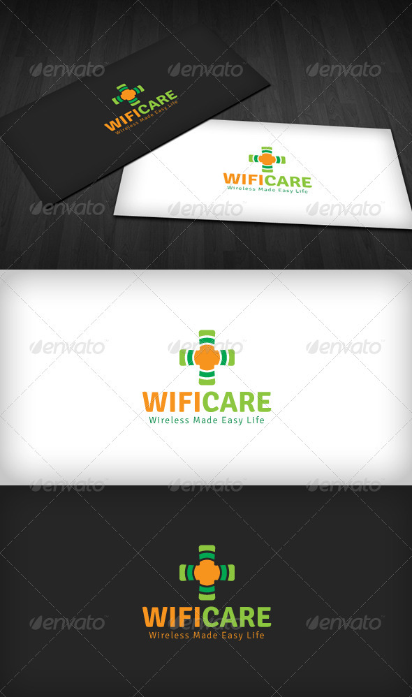 Wifi Care Logo - Vector Abstract