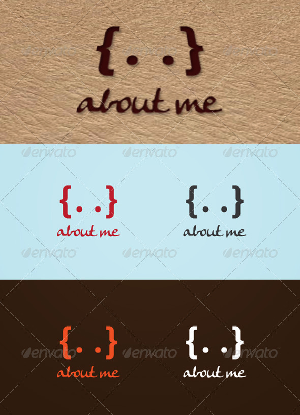 About me - Humans Logo Templates