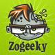 ZOGEEKY - Zombie Geek Cartoon Logo - GraphicRiver Item for Sale