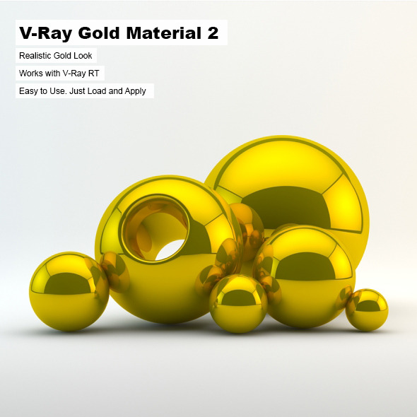 V-Ray Gold Material 2 - 3DOcean Item for Sale