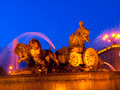 La Cibeles Fountain By Night, Madrid - PhotoDune Item for Sale