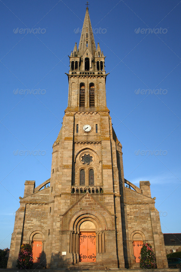 French-Bretagne-Dome of Pleneuf - Stock Photo - Images