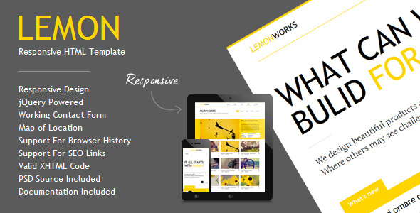 Lemon - Responsive Portfolio Template