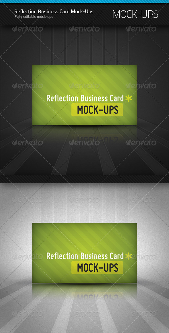 Reflection Business Card Mockup - Business Cards Print