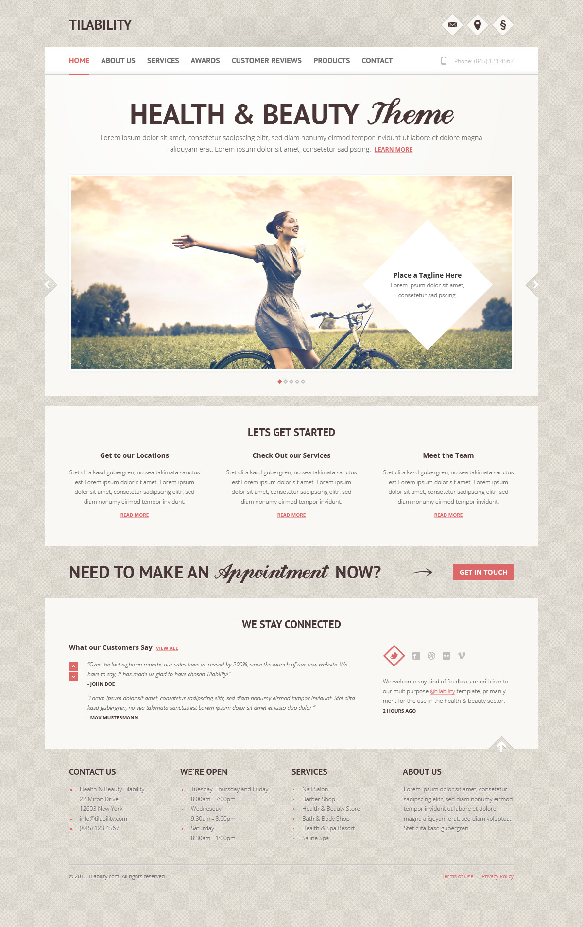 Tilability Health & Beauty xHTML/CSS Template