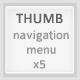 Thumb menu pack navigation place photos in buttons - GraphicRiver Item for Sale