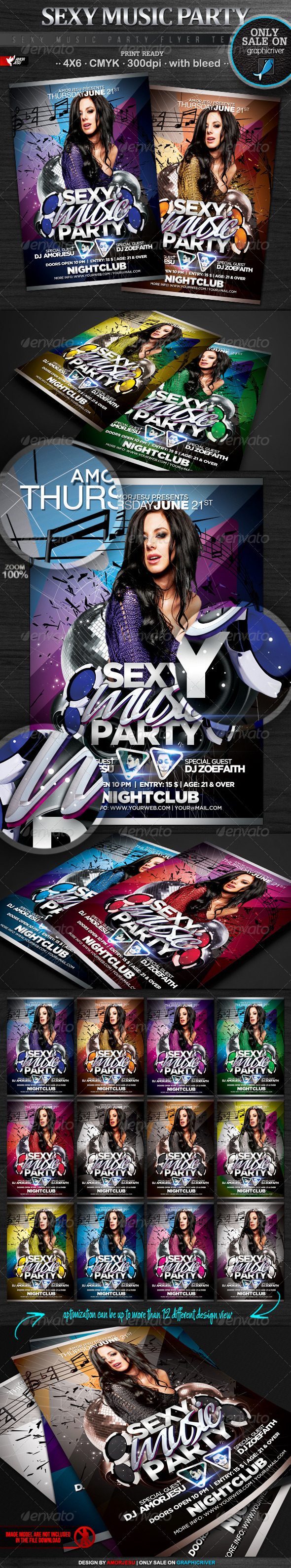 Sexy Music Party Flyer Template - Events Flyers