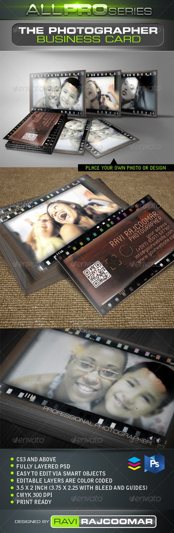 The Photographer Business Card - Creative Business Cards