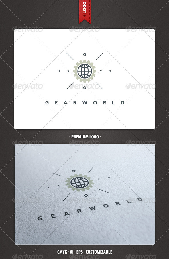 Gear World Logo Template - Abstract Logo Templates