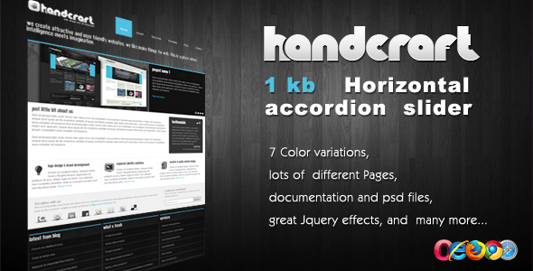 ThemeForest Handcraft 7 in 1 Portfolio and Business template 89568