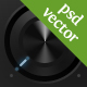 Stereo system (black knobs & buttons) - GraphicRiver Item for Sale