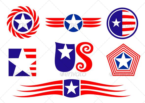 GraphicRiver American patriotic symbols 90428