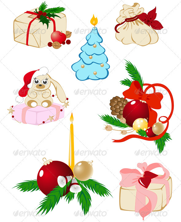 Set of Christmas Icons - Christmas Seasons/Holidays