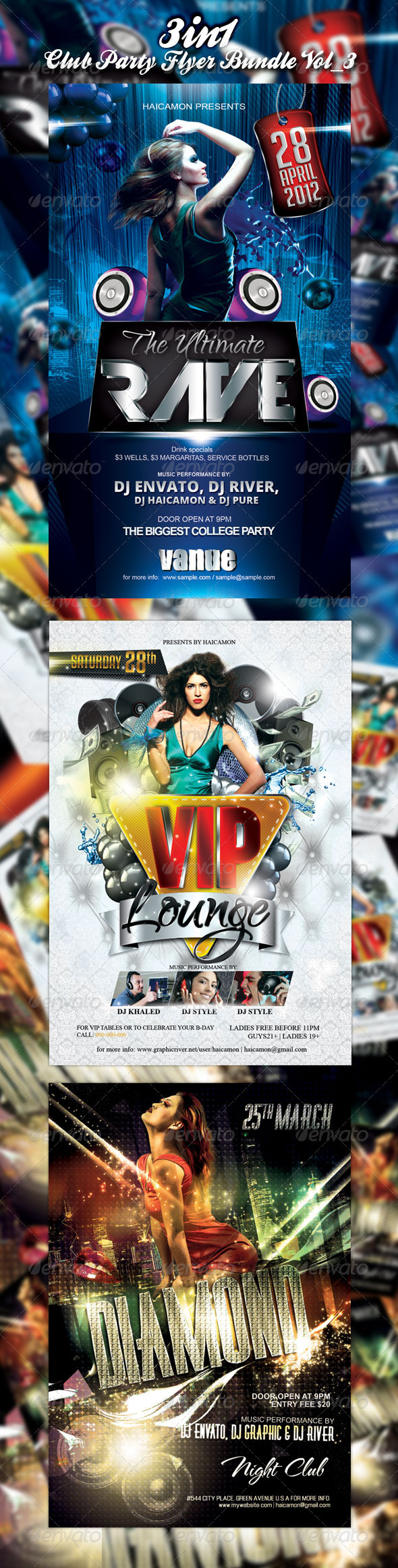 Club/Event Party Flyer Bundle Vol_3 - Events Flyers