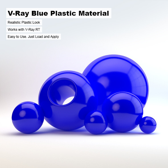 V-Ray Blue Plastic Material - 3DOcean Item for Sale