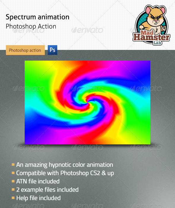 Spectrum Animation Photoshop Action - Photo Effects Actions