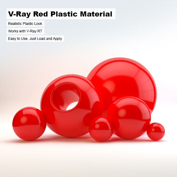 V-Ray Red Plastic Material - 3DOcean Item for Sale
