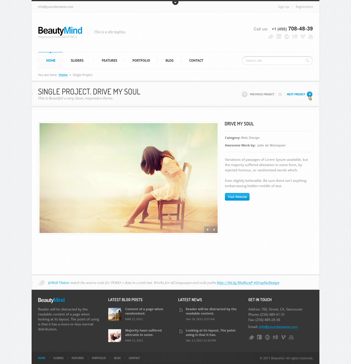 BeautyMind - Unique &amp; Clean PSD Template