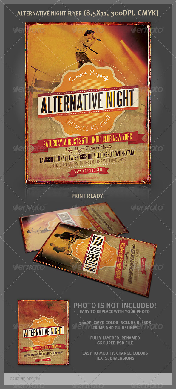GraphicRiver Alternative Night Music Flyer 2471272