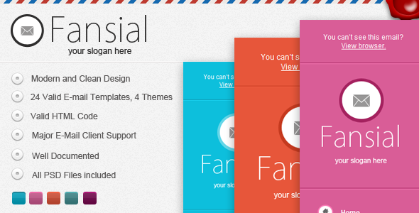 ThemeForest – Fansial E-mail Newsletter