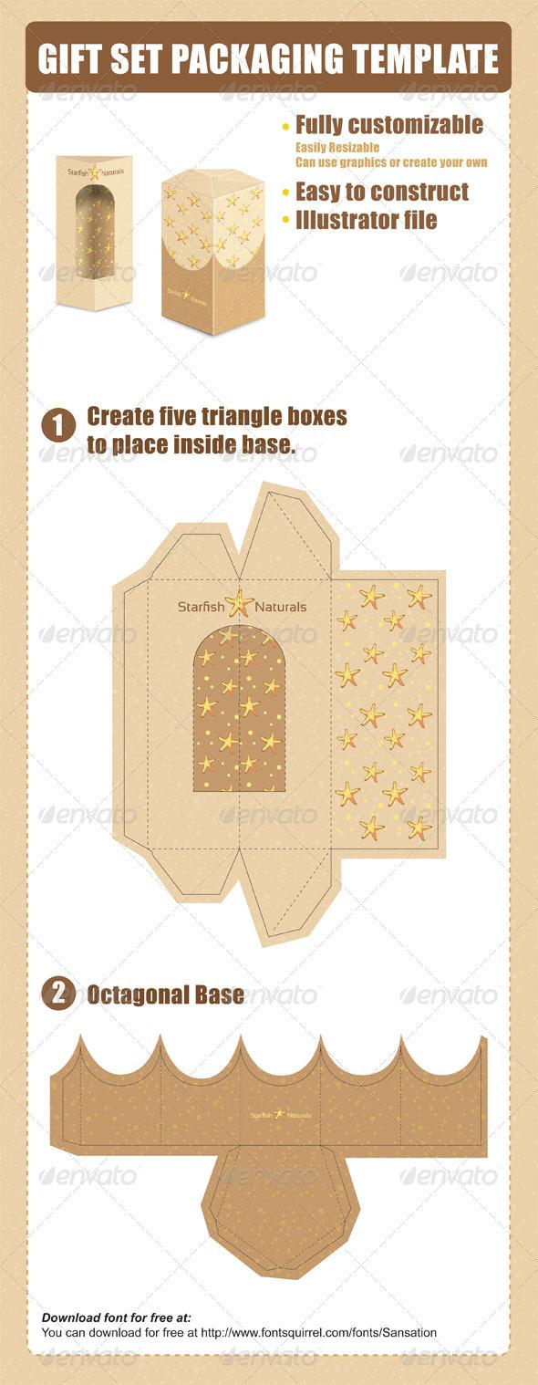 Gift Set Packaging Template 设计素材下载