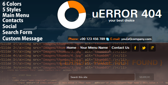 uError - Custom Error Page