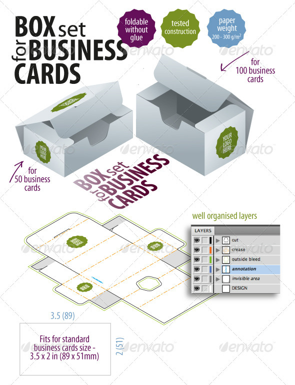 GraphicRiver Box Set For Business Cards 2474448