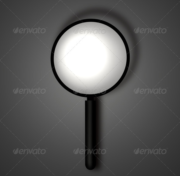 Magnifying glass - Stock Photo - Images