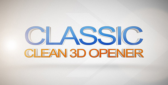 After Effects Project - VideoHive Classic Clean 3D Opener 2440130