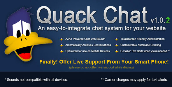 Quack Chat Live Chat System - CodeCanyon Item for Sale