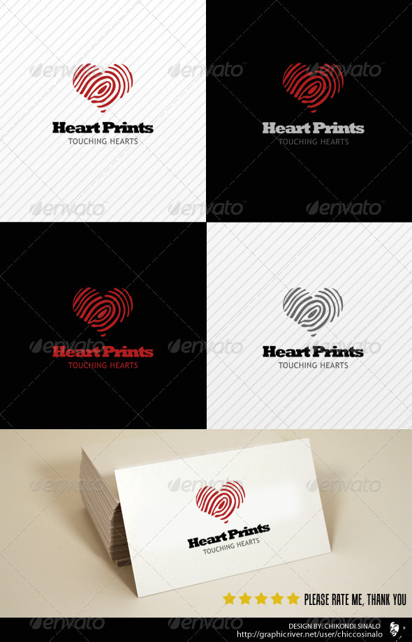 Heart Prints Logo Template - Abstract Logo Templates