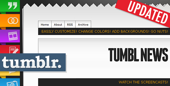 ThemeForest Tumbl News Tumblr Theme Template 86918